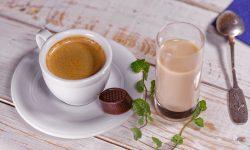 tasse café avec accompagnements